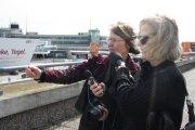 Christiane Weidner wird von Inforadio interviewt (c) Foto von Susanne Haun